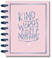 The Happy Planner - Me and My Big Ideas - Classic Guided Journal - Kind Words Cost Nothing - Gratitude