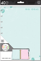 The Happy Planner - Me and My Big Ideas - Classic Refill Note Paper - Full Sheet - Big Ideas (Dot Grid, Lined, Checklist, Graph)