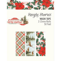 Carpe Diem - Simple Stories - Country Christmas Washi Tape - Set of 3