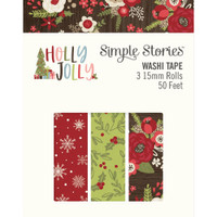 Carpe Diem - Simple Stories - Holly Jolly Washi Tape - Set of 3