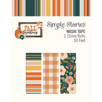 Carpe Diem - Simple Stories - Fall Farmhouse Washi Tape - Set of 3