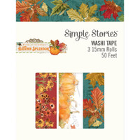 Carpe Diem - Simple Stories - Autumn Splendor Washi Tape - Set of 3
