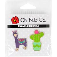 Oh Hello Co - Enamel Pins - Cactus & Llama
