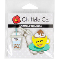 Oh Hello Co - Enamel Pins - Coffee Shop