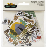 Carpe Diem - Simple Stories - Happy Trails Bits & Pieces Die-Cuts