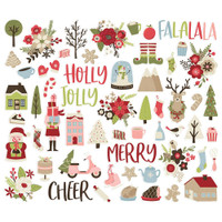 Carpe Diem - Simple Stories - Holly Jolly Bits & Pieces Die-Cuts