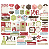 Carpe Diem - Simple Stories - Holly Jolly Bits & Pieces Die-Cuts - Journal