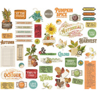 Carpe Diem - Simple Stories - Autumn Splendor Bits & Pieces Die-Cuts