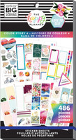 Me and My Big Ideas - The Happy Planner - Value Pack Stickers - Color Story 4
