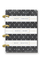 Me and My Big Ideas - Micro Happy Notes - Rongrong - Black & White Stripe (Lined)