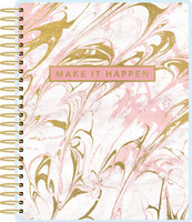 Paper House - Pink Marble - 18 Month Planner (Undated, Vertical)