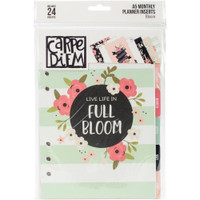 Carpe Diem - Simple Stories - A5 Planner Inserts - Bloom - Monthly (Undated)
