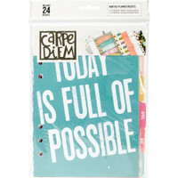 Carpe Diem - Simple Stories - A5 Planner Inserts - Monthly