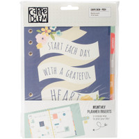 Carpe Diem - Simple Stories - A5 Planner Inserts - Posh - Monthly