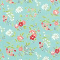 Moda Fabric - Vintage Picnic - Bonnie & Camille - Aqua #55125-12