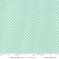 Moda Fabric - Early Bird - Bonnie & Camille - Stripe Aqua #55196 12