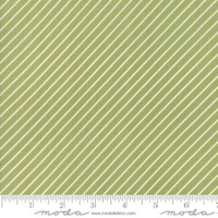 Moda Fabric - Early Bird - Bonnie & Camille - Stripe Green #55196 16
