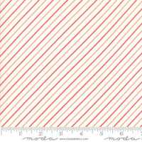 Moda Fabric - Early Bird - Bonnie & Camille - Stripe Cream Red #55196 27