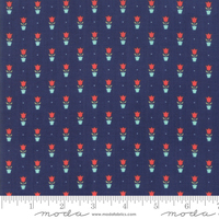 Moda Fabric - Early Bird - Bonnie & Camille - Tulips Navy #55197 15