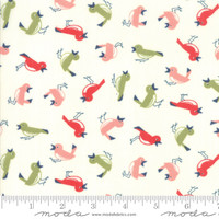 Moda Fabric - Early Bird - Bonnie & Camille - Vintage Birds Cream #55192 17