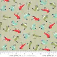 Moda Fabric - Early Bird - Bonnie & Camille - Vintage Birds Gray #55192 14