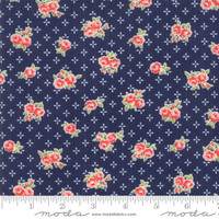 Moda Fabric - Early Bird - Bonnie & Camille - Sweet Navy #55191 15