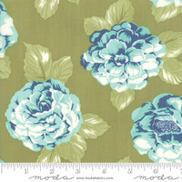 Moda Fabric - Early Bird - Bonnie & Camille - Blooms Green #55190 16