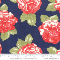 Moda Fabric - Early Bird - Bonnie & Camille - Blooms Navy #55190 15