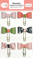 Carta Bella Paper - Rock-A-Bye Baby Girl Collection - Decorative Paper Clip Bows