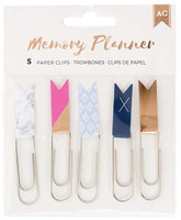 American Crafts - Memory Planner Flag Paper Clips - Marble Crush