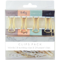 Kaisercraft - Kaiserstyle - Planner - Clips Pack - Words