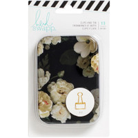Heidi Swapp - Magnolia Jane - Gold Binder Clips with Tin