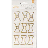 American Crafts - Paper Clips - Bow Tie - Jumbo - Set of 9
