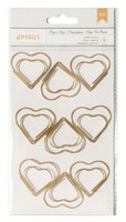 American Crafts - Paper Clips - Heart- Jumbo - Set of 9
