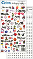 Paper Accents Stickers - Calendar - Months & Numbers