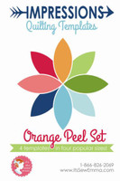 It's Sew Emma - Impressions Quilting Template - Orange Peel Set