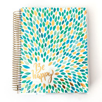 Paper House - Be Happy - 18 Month Planner (Undated, Vertical)