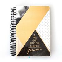 Paper House - Black and Gold Geometric - 12 Month Mini Planner (Undated, Horizontal)