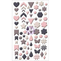 My Prima Planner - Rose Quartz - Adhesive Enamel Shapes
