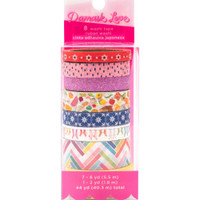 American Crafts - Damask Love Write At Home - Washi Tapes - Set of 8