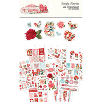 Carpe Diem - Simple Stories - Simple Vintage My Valentine Mini Sticker Tablet