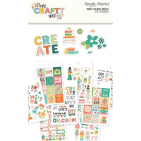 Carpe Diem - Simple Stories - Hey, Crafty Girl Mini Sticker Tablet