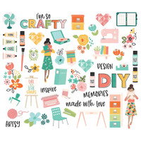 Carpe Diem - Simple Stories - Hey, Crafty Girl Bits  Bits & Pieces Die-Cuts