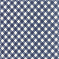 50cm - Moda Fabric - Wide Backing - Vintage Picnic - Bonnie & Camille - Navy #11111 16