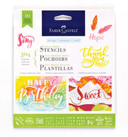 Faber-Castell - Mixed Media Paper Stencils - 10 Reusable Graphic Stencils