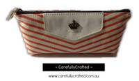 Nautical Fabric Pencil Case - Medium - Orange