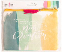 American Crafts - Creative Devotion - Oil Cloth Zippered Pencil Pouch