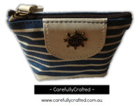 Nautical Fabric Pencil Case - Small - Dark Blue
