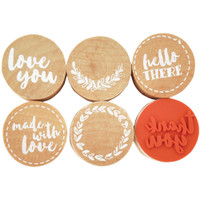 Kaisercraft - Lucky Dip Red Rubber Stamps - Just For You