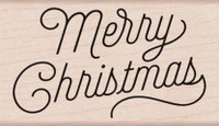 Hero Arts - Mounted Rubber Stamp - Merry Christmas